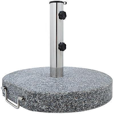 Sonnenschirmständer Granit 30 kg rund mit Rollen Granitschirmständer 45 cm