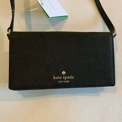 Kate Spade New York,black Phone Crossbody Handbag Wallet, credit card, $100.00