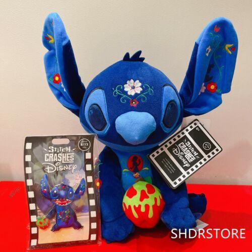 IN HAND Disney 2021 Stitch Crashes Plush Pin set August Snow white seven Dwarfs