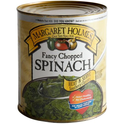 6 Case Bulk Wholesale Restaurant Hotel Diner Kitchen Canned Chopped Spinach