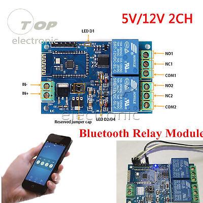 5v12v 2ch Bluetooth Relay Module Intelligent Home Mobile App Remote Control