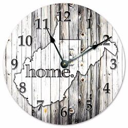 WEST VIRGINIA RUSTIC HOME STATE CLOCK - Large 10.5 Wall Clock - 2258