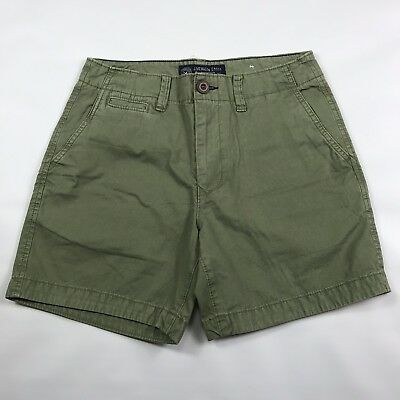 American Eagle Mens Deck Chino Twill Shorts Sz 28 Olive Green Sunwashed NWT  (New American Eagle Deck)