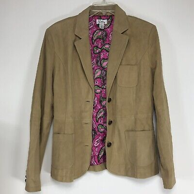 Lilly Pulitzer Lamb Suede Leather Jacket Size Medium