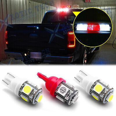 2 White 1 Red 921 LED Truck Cargo Area Bed Lights + 3rd Third Brake Light Bulbs