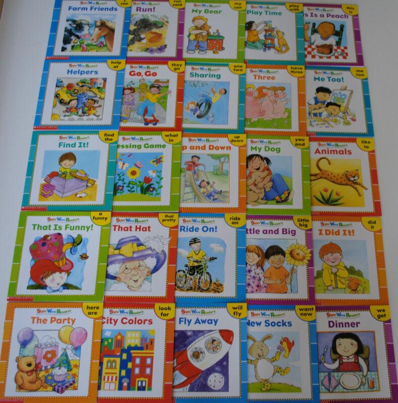 25 SIGHT WORD READERS PreK Kindergarten Homeschool Books Guided Reading Level A