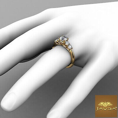 5 Stone Trellis Setting Round Diamond Engagement Prong Ring GIA F Color SI1 1Ct  7