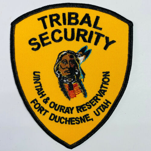 Tribal Security Uintah & Ouray Reservation Fort Duchesne Utah UT Indian Patch