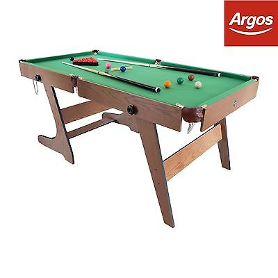Hy-Pro 6ft Folding Snooker and Pool Table. From the Official Argos Shop on ebay