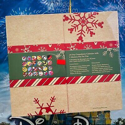Disney Parks 2020 Christmas Holidays Advent Calendar Ornaments Theme 24 Pin Set
