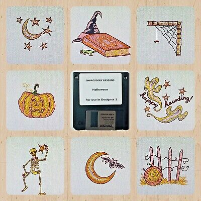 Halloween Embroidery Designs Disk for Husqvarna Viking Designer - Designs For Halloween