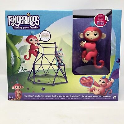 Fingerlings Jungle Gym Playset With Exclusive Aimee Pink Monkey By Wowwee