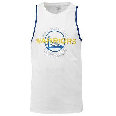G34 Mens XL Golden State Warriors New Era Double Logo Tank Top