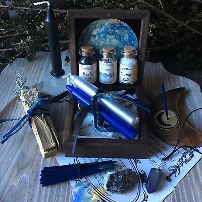 Witch Box Moon Ritual Wicca Pagan Goddess Trinket box Altar Supplies Spell Kit ©
