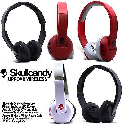 Skullcandy Uproar Wireless Bluetooth Headphones With Mic Black White Red New