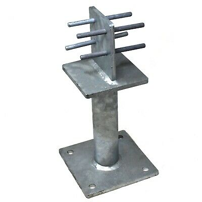 SIMPSON STRONG-TIE® PBH120 HEAVY DUTY GALVANISED POST BASE C/W METAL DOWELS