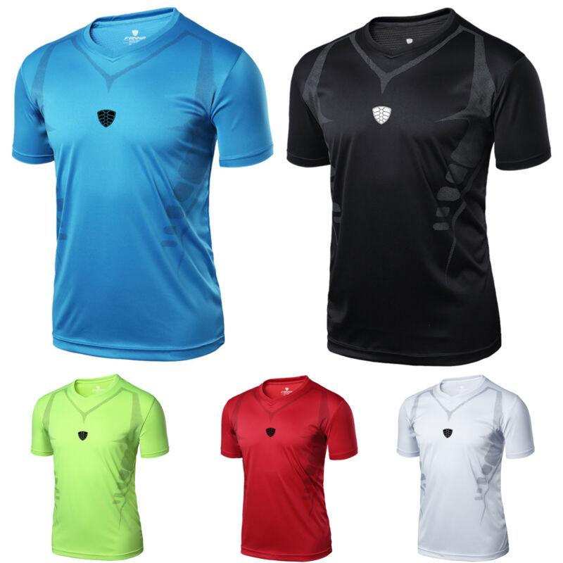 Herren Sommer Fitness Sport Shirt Kurzarm Tops Training Jogging Schnelltrocknend