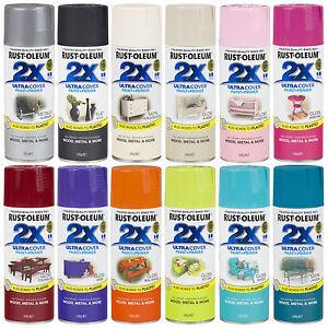 Rust Oleum 2x Ultra Cover Spray Paint Primer Gloss Satin