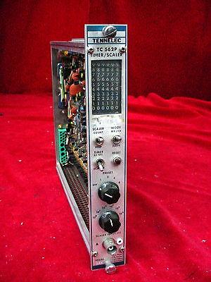 Tennelec Tc 562p Timerscaler Nim Bin Plug-in Module Tc562p
