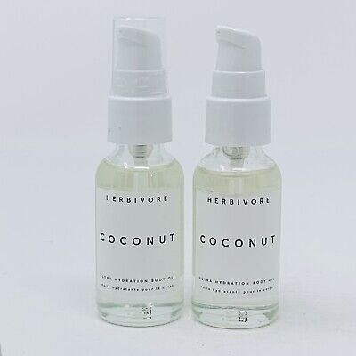 2x Herbivore Coconut Ultra Hydration Body Oil NWOB 1oz Each NWOB Read