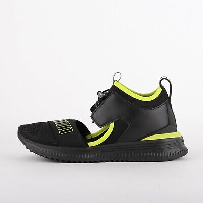 Womens Puma X Fenty Avid Black/Yellow Trainers (LF1) RRP £130.99