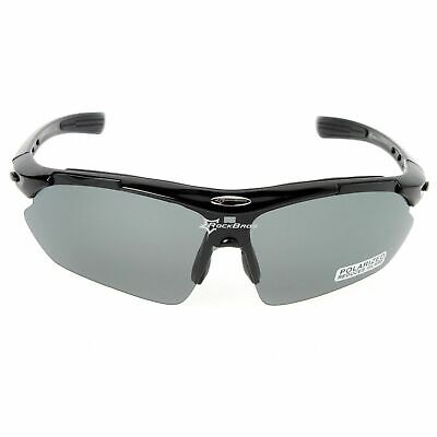 b14ac5801dac33 RockBros Polarized Bike Cycling Glasses Sports Goggles Sunglasses UV400  Black