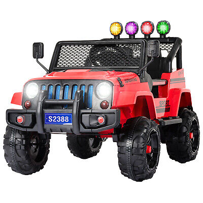 12V Kids Ride on Car Toys Electric Battery Suspension With Remote Control Red