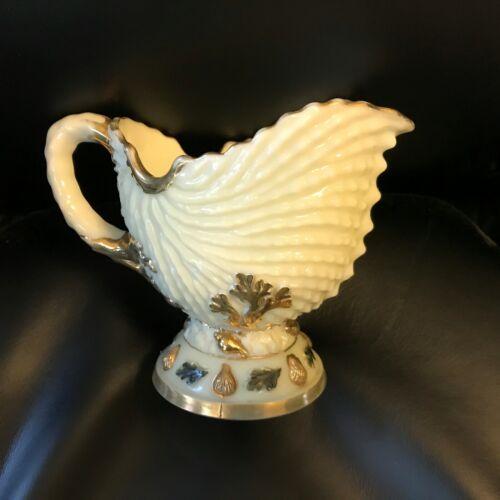 Antique Northwood Custard Glass Nautilus aka Argonaut Shell Creamer