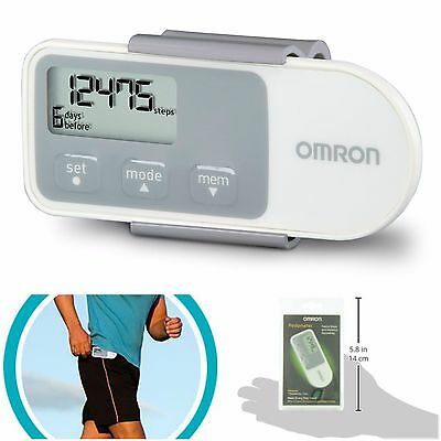 Omron Pedometer For Walking Steps Counter Distance Tracker Clip Activity Monitor