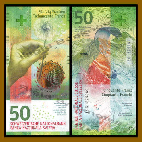 Switzerland 50 Francs, 2015 (2016) P-77 Hybrid Polymer Swiss National Bank Unc