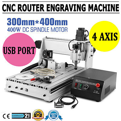 New Usb Cnc Router Engraver Engraving Cutter 4 Axis 3040 T-screw Desktop Cutting