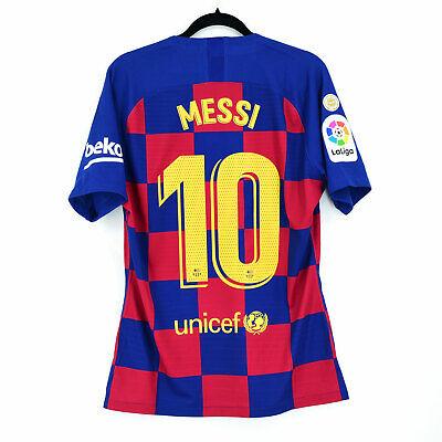 2019-20 Barcelona Player Issue Home Shirt #10 MESSI Marató Match Un Worn...