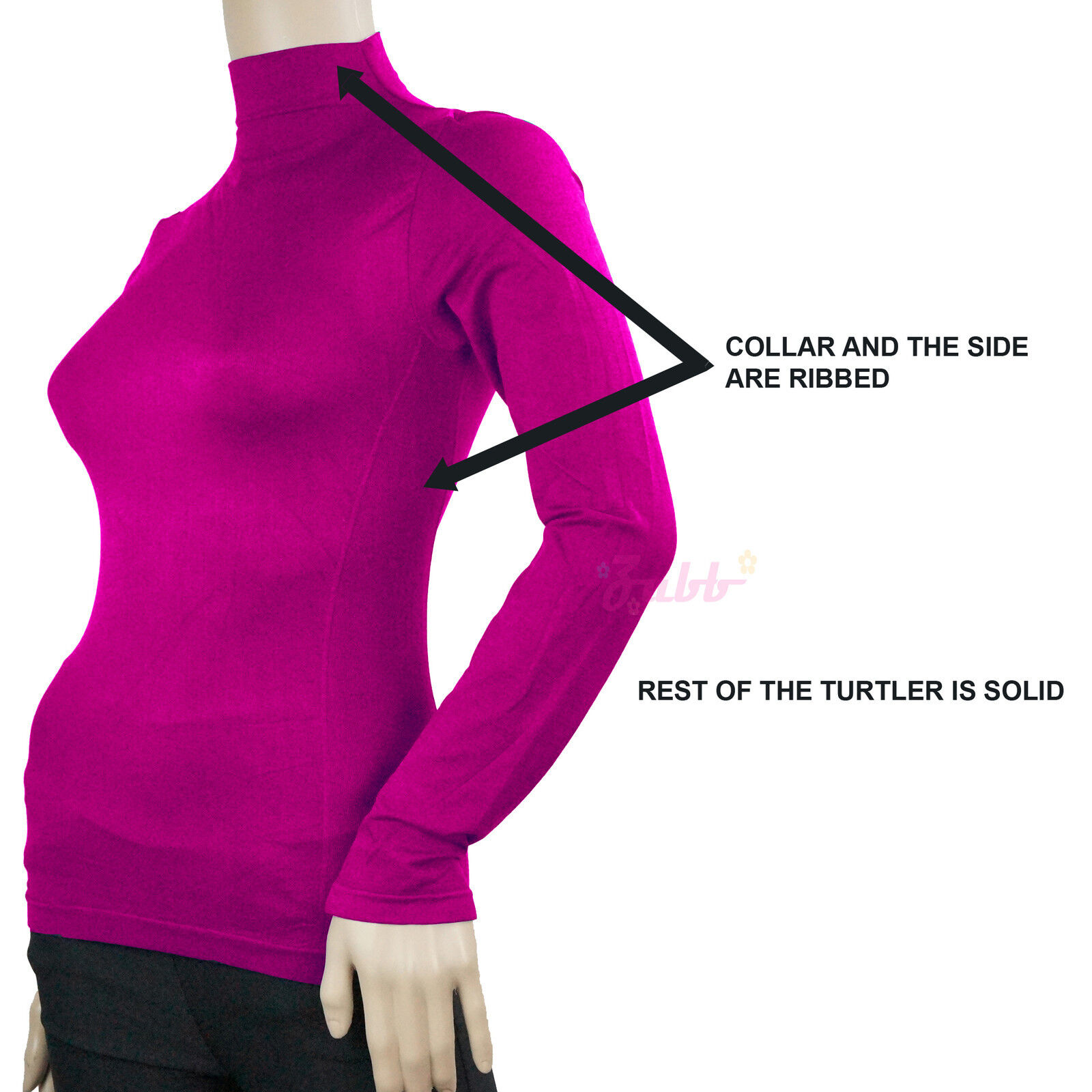 как выглядит Женская футболка с длинным рукавом SOFT SEAMLESS STRETCH LONG SLEEVE SHIRT TURTLENECK MOCK HIGH NECK TOP SLIM FIT фото