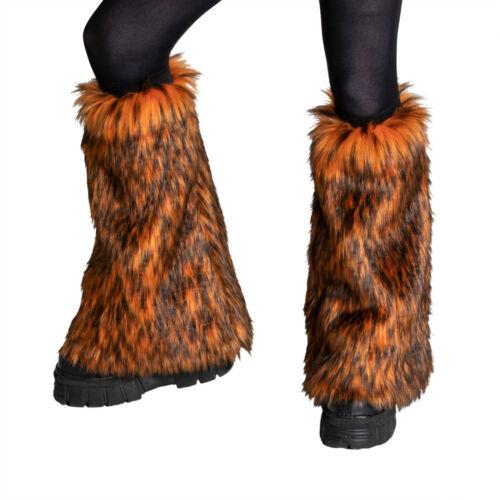 PAWSTAR Wild Wolf Fur Leg Warmers - faux fluffy fluffies furry rave [ORW]2510