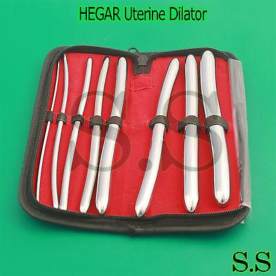 Urethral Hegar Dilator Sounds Surgical Gyne Instruments 8 Pcs Set