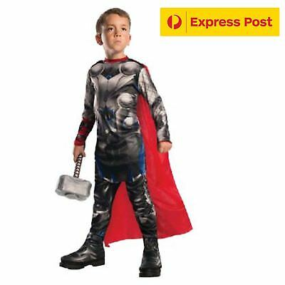 Child Thor Superhero Costume Size Small 95-110Cm  3-5Y Book Week Sale](Thor Costumes For Girls)