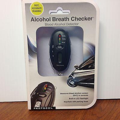 Alcohol Breath Checker Tester Key chain LED Flashlight Timer by Protocol 2419-7A