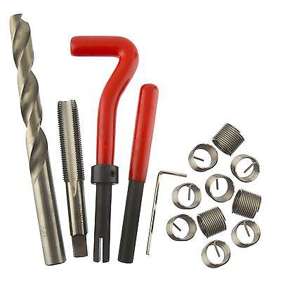 M12 x 1.25mm Thread Tap Repair Cutter kit helicoil 15pc set damaged thread AN0