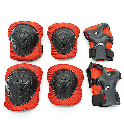 Small Skateboard Roller Elbow Pads Knee Wrister Protective Gear Kids Spiderman