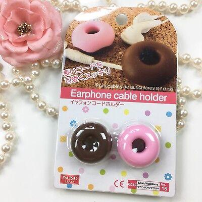 Earphone Cable Holder Cord Winder [Original Donut] (set of 2)