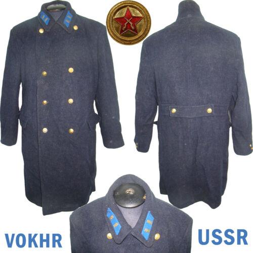 RARE VOKHR Original Soviet OFFICERS blue winter overcoat