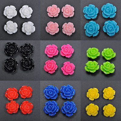 - 20Pcs Gorgeous Rose Flower Coral Resin Spacer Beads, Color - Choose 10MM, 12MM