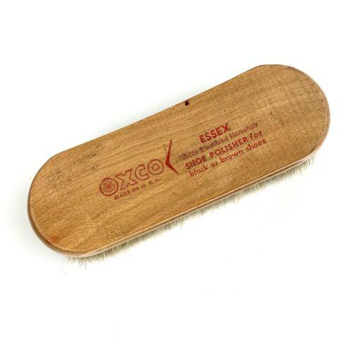 Oxco ESSEX Shoe Shine Brush 100% Sterilized Horse Hair Brush USA