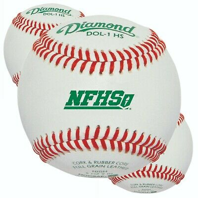 3 Dozen (36 Balls) Diamond DOL-1 HS Official  Baseball NFHS NOCSAE High School