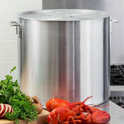 100 Qt. Nsf Aluminum Restaurant Kitchen Commercial Stock Pot With Lid Cover