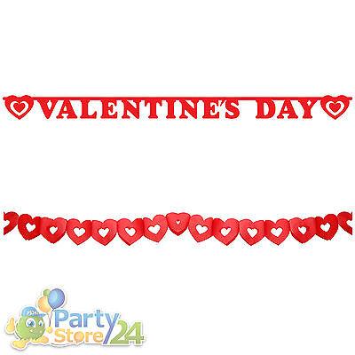 Valentinstag Girlande (Girlande Valentinstag Banner Party Deko Liebe Heirat Rose Antrag Herz Romantisch)