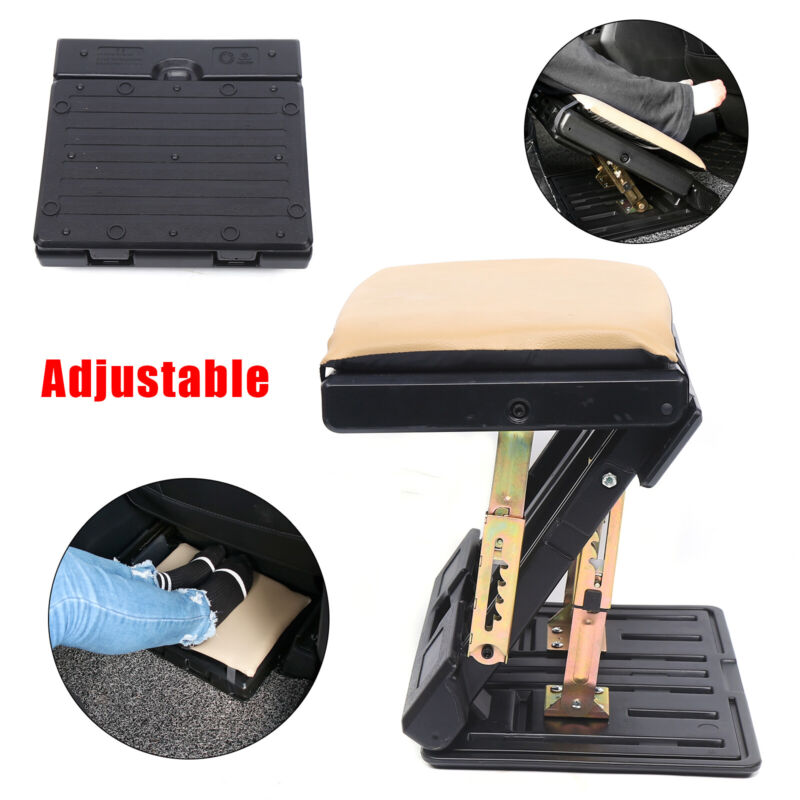 NEW Portable Adjustable Height Foot Rest Stool Ergonomic Home Office Car Train