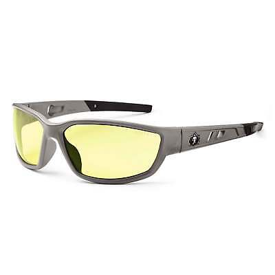 Skullerz Kvasir Safety Glasses With Yellow Lens And Matte Gray Frame