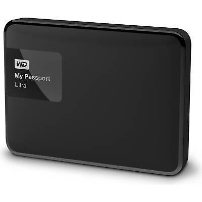 WD My Passport Ultra 2TB Black Portable External Hard Drive USB3.0 WDBBKD0020BBK