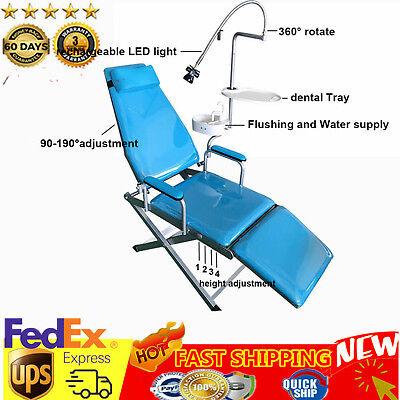Mobile Dental Portable Folding Chair Rechargeable Led Light Headrest Equipment